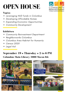 Open House Community Reinvestment @ Columbus Main Library
