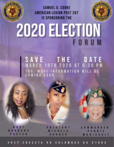 Muscogee County Forum 2020 Event @ American Legion Post #267 Forum