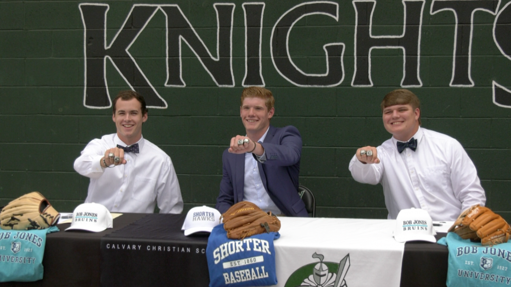 Three Calvary Christian Seniors Baseball Players Sign National Letters Of Intent