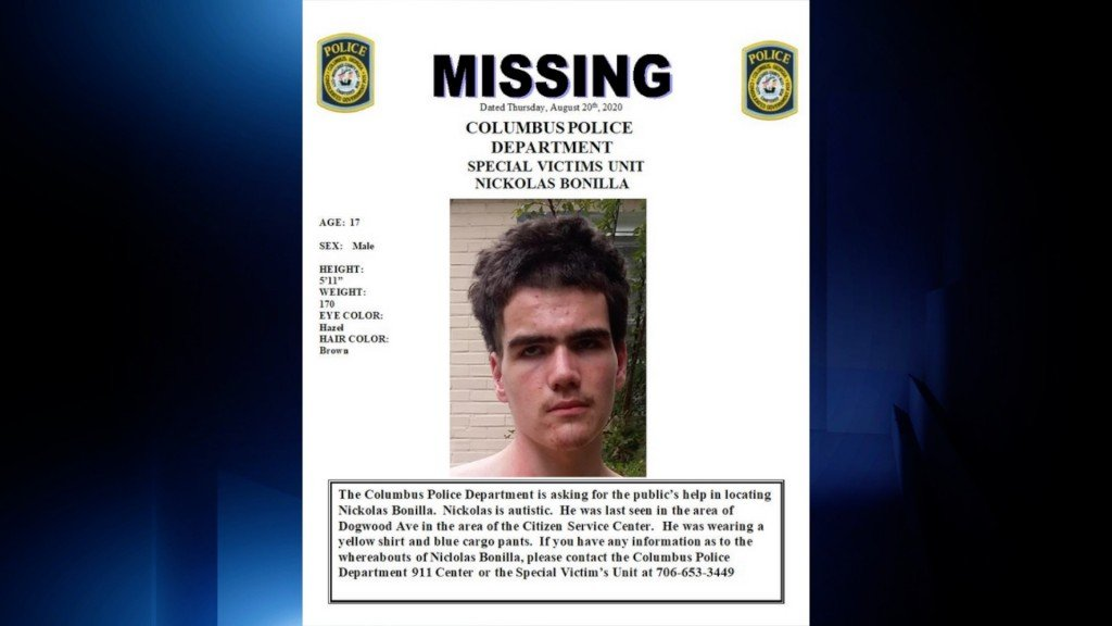 Missing Autistic Teen Arrested