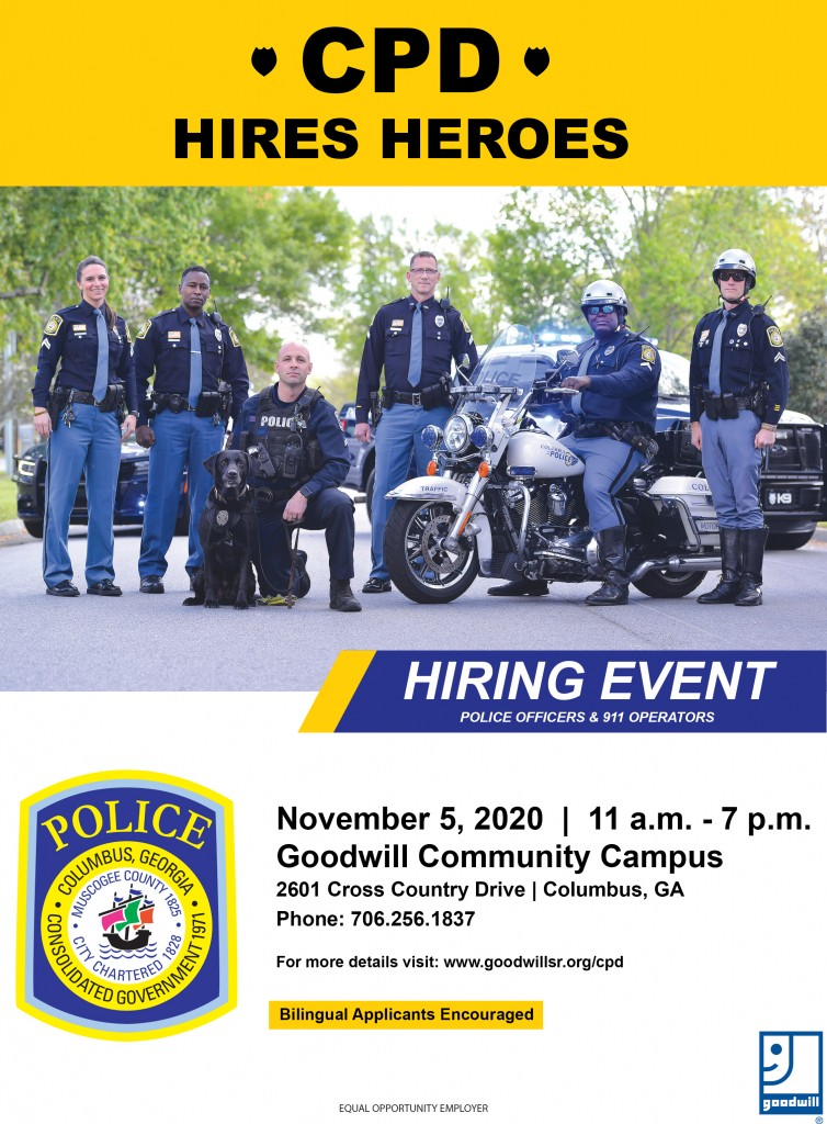 Cpd Hiring Event Flyer